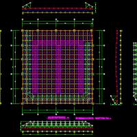 安徽篮球场网架屋面结构施工图(正放四角锥)