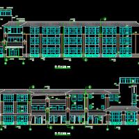 西南2757平米三层九班幼儿园建筑设计图纸