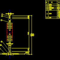 110KV线路导线单联悬垂绝缘子串CAD详细