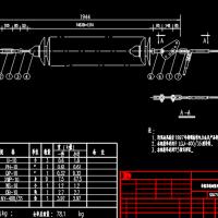 110KV电力线路导线单联耐张瓷绝缘子串详细CAD资料