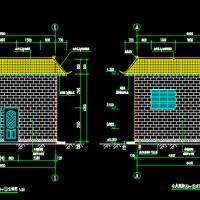 公共厕所建筑结构全套CAD施工图(含化粪池设计)