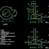 喷泉水池结构详图设计CAD详图