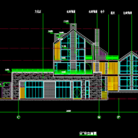 湖北某住宅小区会所及高层住宅楼建筑图