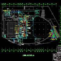 温州10940平米丙级游泳馆强电及消防有电施工图(含计算书)