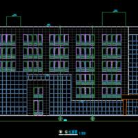 六层框架结构办公楼建筑设计施工图纸(带中庭回字形)