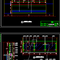 大堂中庭钢化玻璃栏杆CAD详图