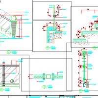 剧院楼梯玻璃栏杆CAD详图