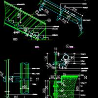 玻璃楼梯栏杆详图