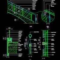 玻璃楼梯栏杆详图Ⅱ