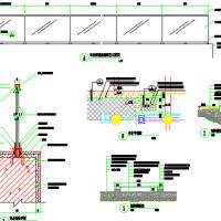 车库玻璃栏杆及台阶详图
