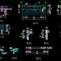 平台玻璃栏杆CAD图纸