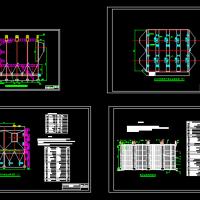 200MW燃煤锅炉电除尘器外形尺寸总装及电极配置图