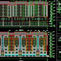 江苏6层框架结构住宅楼建结水电全套施工图纸