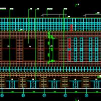 江苏16828平米五层框架结构商场建筑设计图纸