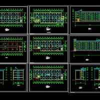 某小学宿舍建筑设计图(1660平米)