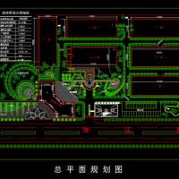 某厂区景观规划设计CAD图纸
