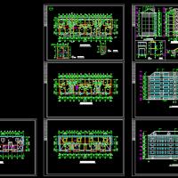 六层砖混结构住宅楼设计施工图(南梯带老虎窗)