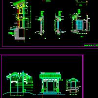 垂花门楼CAD设计详图