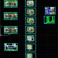 12层宾馆消防报警电气设计图纸(火灾自动报警系统)