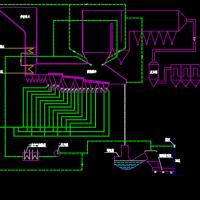 炉排炉燃烧系统图
