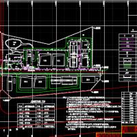 南方某自来水厂电气设计图