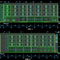 河南某厂区4175平米4层框架结构食堂宿舍楼联建设计图纸(含节能2019最新)