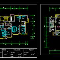 一梯三户户型建筑施工CAD设计图