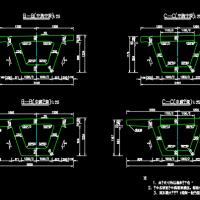 桥梁箱梁中跨及边跨一般构造通用图
