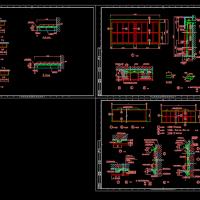 内装修讲台黑板CAD详图
