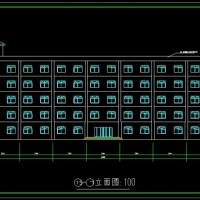3600平米五层公寓楼毕业设计(建筑图,结构图,总平面图)