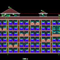 河南6762平米六层框架结构学生宿舍楼建筑及结构设计全套图纸(水泥土搅拌桩)