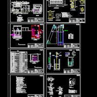 整套污水泵站cad设计施工图纸(含说明)