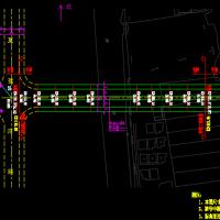 独塔斜拉桥全部CAD设计图纸