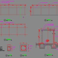 混凝土廊架设计CAD详图