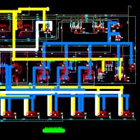 2500t冷库制冷系统图(11张CAD)