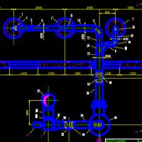 酸洗废气净化系统的初步设计CAD图纸(课设)