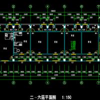 某8层框架结构宿舍楼建筑施工图纸(可做出租房)