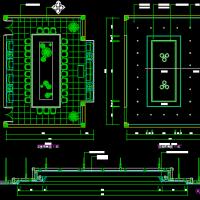 小型会议室装修设计CAD详图
