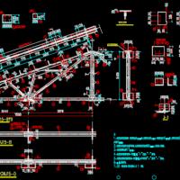 15米跨三角形钢屋架设计图
