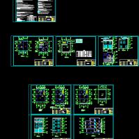 8.0x12.4新农村4层住宅楼建筑设计图纸