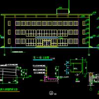 江苏无锡1300平米三层框架结构办公楼建筑设计图纸