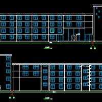 河北5162平米五层框架结构宾馆建筑结构全套毕设图(含计算书)