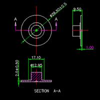 扬声器零件组装CAD设计图纸
