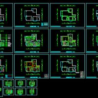 现代风格两室一厅家装设计图(含有3D模型 效果 预算)
