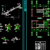 钢楼梯施工图(两种形式)