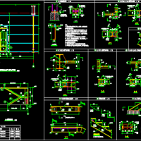 钢楼梯施工图(节点详细)