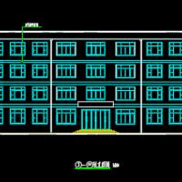 3994平米四层框架结构办公楼建筑毕业设计图纸