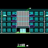 河南4500平米4层框架行政办公楼毕业设计(含计算书,建筑、结构图,PKPM模型)