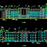 18班幼儿园建筑设计图纸(U型3248X3平米)