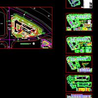 某18班幼儿园建筑设平立面方案图